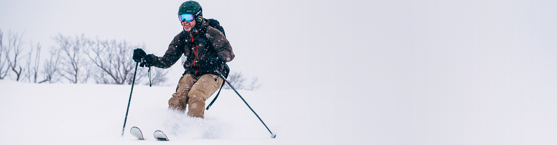 Man Skiing in Snow